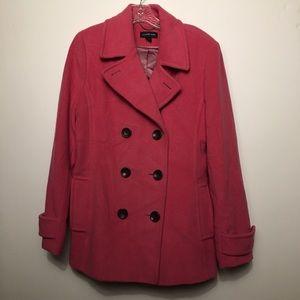 Lands End Pea Coat Jacket Size 10
